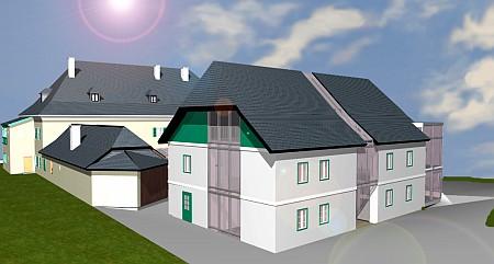 Visualisierung des Neubaues zur LA08